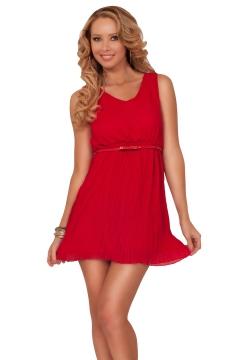 sleeveless-scoop-neck-empire-waist-crystal-pleat-with-skinny-belt-short-dress-43